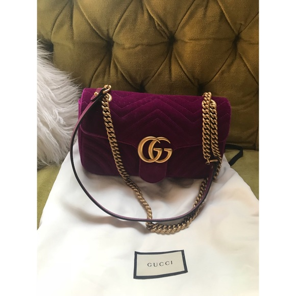 31a23baf3 Gucci Bags | Gg Marmont Small Quilted Velvet Crossbody Bag | Poshmark